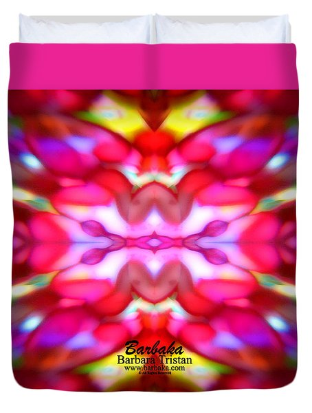 Duvet Cover featuring the photograph Kaleidoscope Wonder by Barbara Tristan
