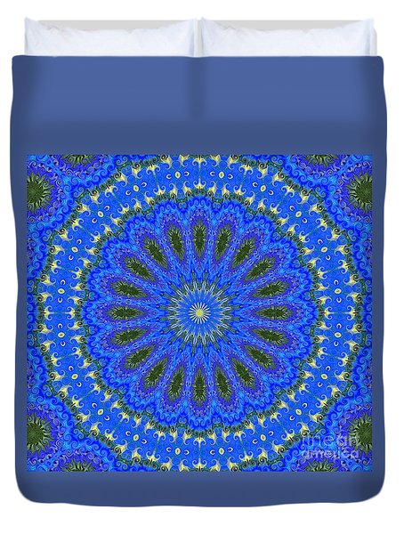 Kaleidoscope Iris Three Duvet Cover