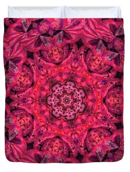 Kaleidoscope No. 3 - Red Duvet Cover