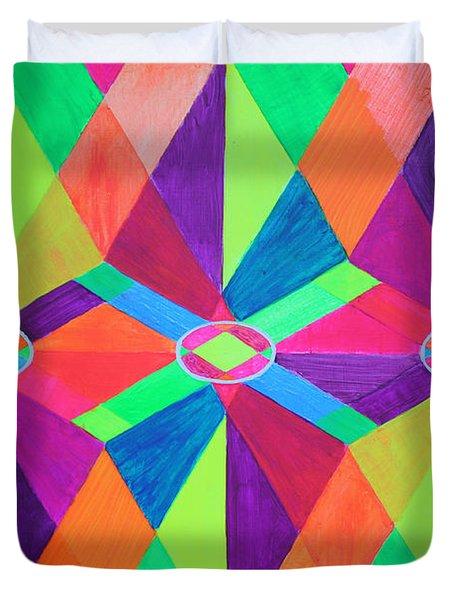 Kaleidoscope Wise Duvet Cover by Ann Sokolovich