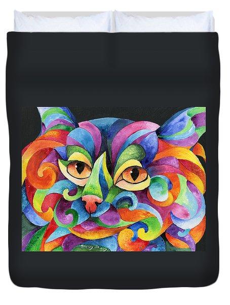 Kalidocat Duvet Cover by Sherry Shipley