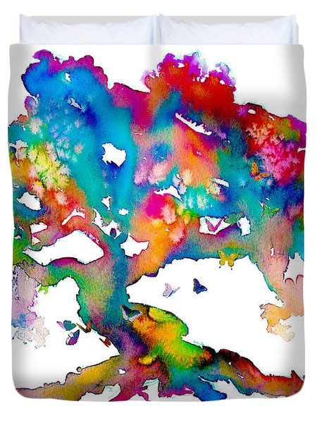 Da186 Kelly's Tree    Daniel Adams Duvet Cover