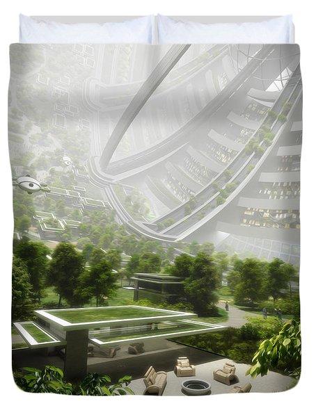 Duvet Cover featuring the digital art Kalpana One Houseing by Bryan Versteeg