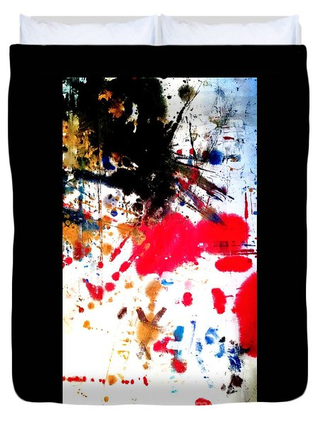 Duvet Cover featuring the painting Kamor Abstract by Amy Sorrell