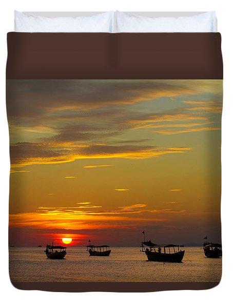 Kampong Som Sunset Duvet Cover