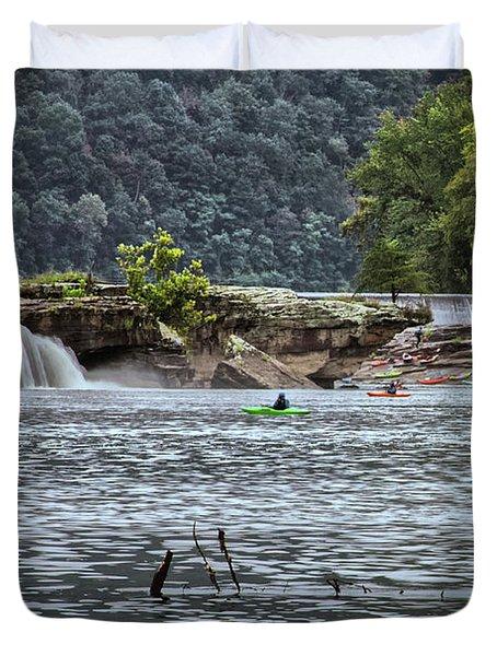 Kanahwa Falls Festival Duvet Cover