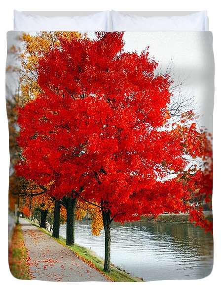 Kanawha Boulevard In Autumn Duvet Cover