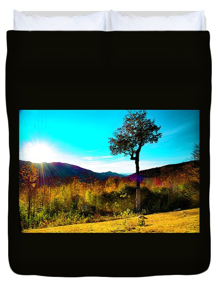 Kancamagus Sunset Duvet Cover