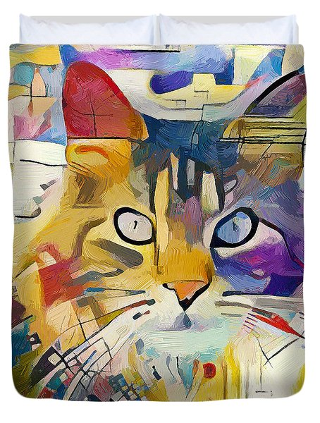 Kandinsky Cat Duvet Cover