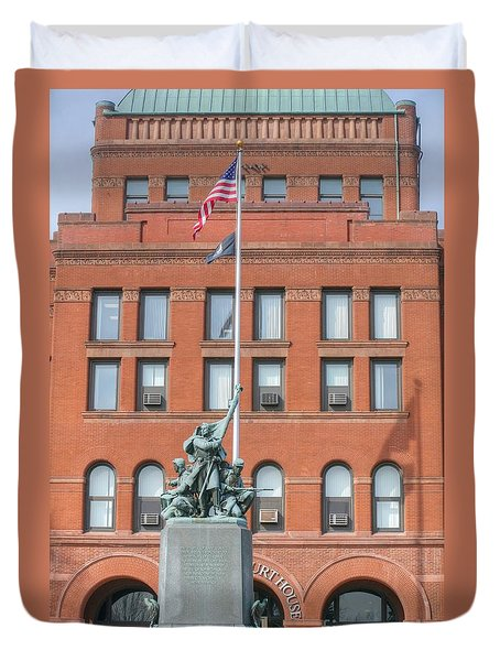 Kane County Courthouse Duvet Cover