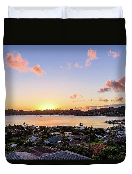 Kaneohe Bay Sunrise 1 Duvet Cover