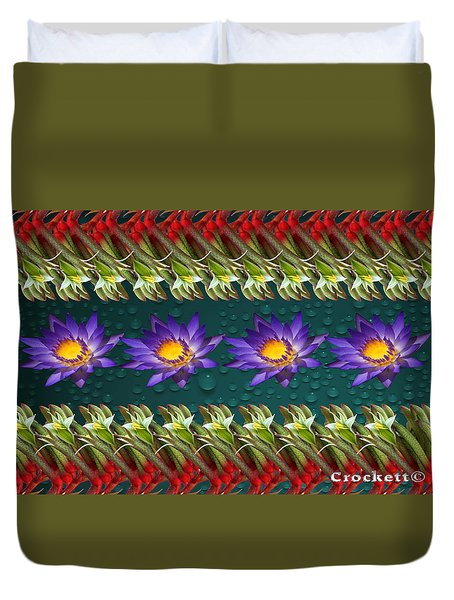 Kangaroo Paw Heaven Duvet Cover by Gary Crockett