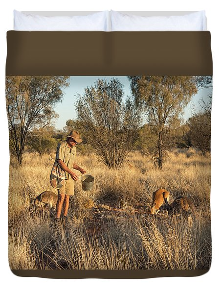 Kangaroo Sanctuary Duvet Cover