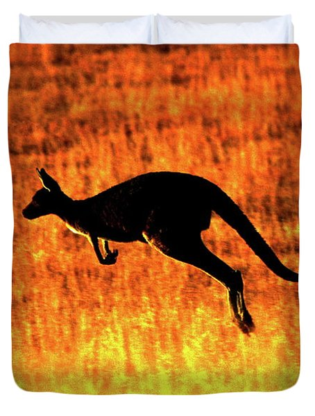 Kangaroo Sunset Duvet Cover