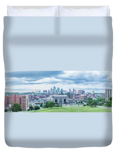 Kansas City Cityscape Duvet Cover by Pamela Williams