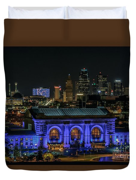 Kansas City In Royal Blue Duvet Cover