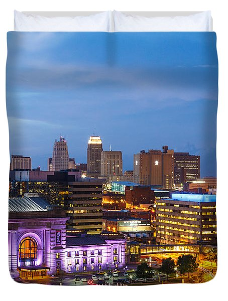 Kansas City Night Sky Duvet Cover