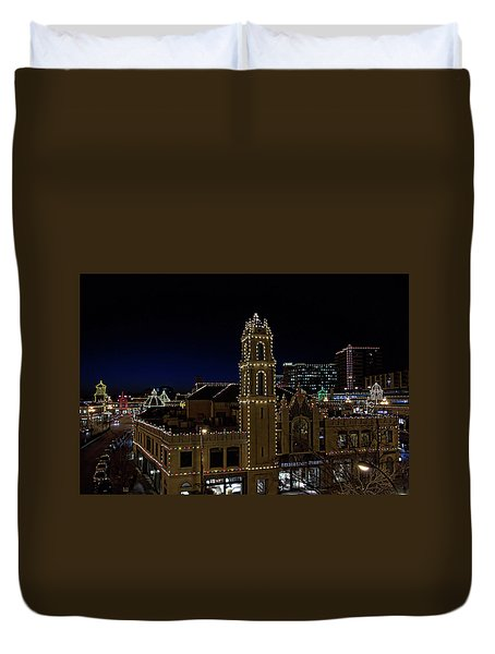Kansas City Plaza Lights Duvet Cover by Tim McCullough