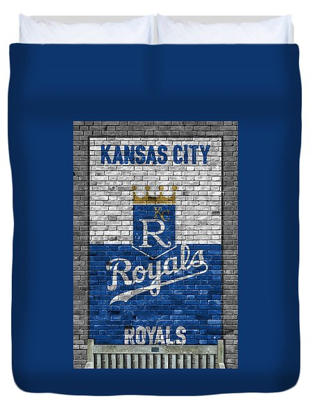 Kansas City Royals Brick Wall Duvet Cover