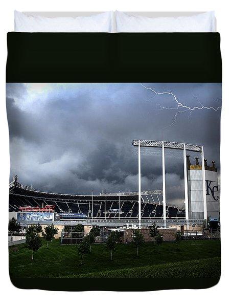 Kansas City Royals Kauffman Stadium  Duvet Cover