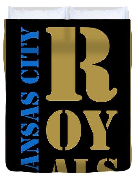 Kansas City Royals Typography Duvet Cover