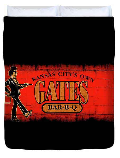 Kansas City's Own Gates Bar-b-q Duvet Cover