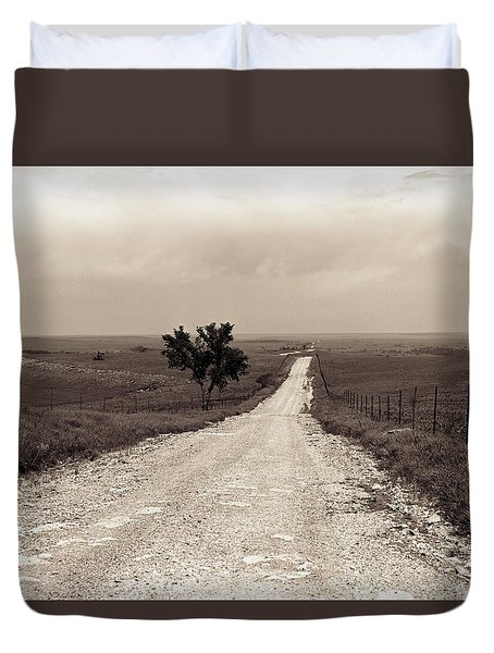 Kansas Country Road Duvet Cover by Thomas Bomstad