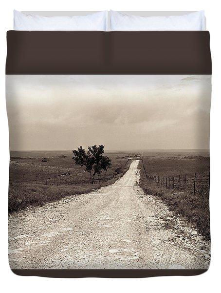 Kansas Country Road Duvet Cover