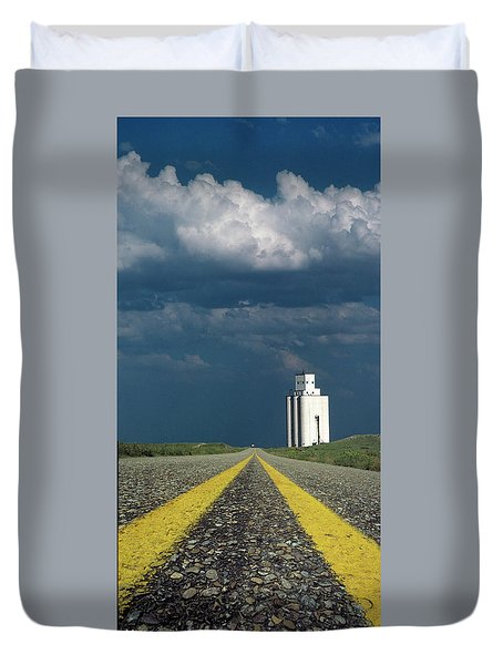 Kansas Grain Elevator Duvet Cover