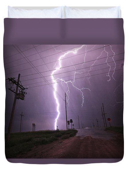 Kansas Lightning Duvet Cover