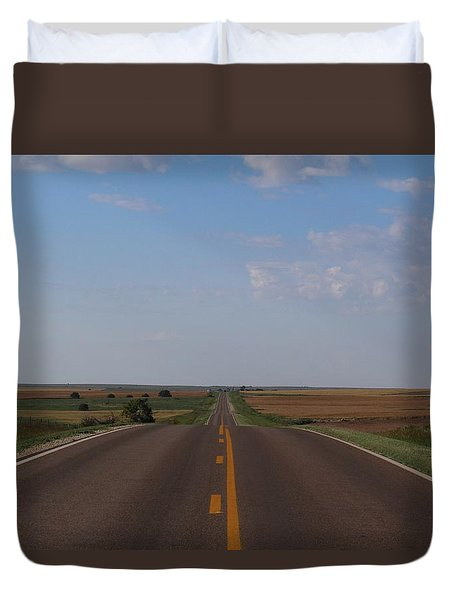 Kansas Road Duvet Cover by Suzanne Lorenz