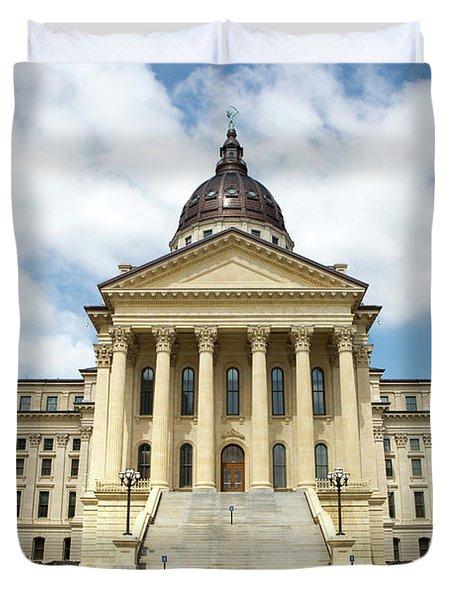Kansas State Capitol Building Duvet Cover