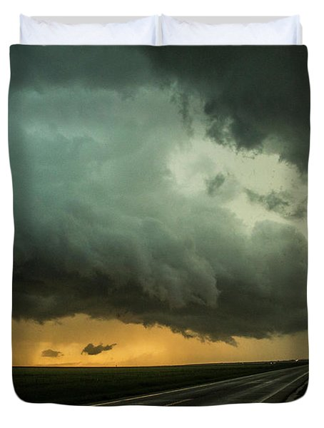 Kansas Storm Chase Bust Day 004 Duvet Cover
