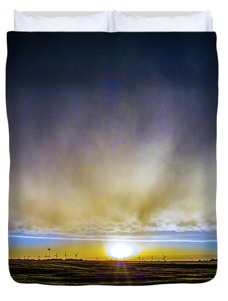 Kansas Storm Chase Bust Day 005 Duvet Cover