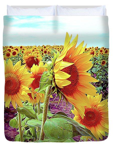 Kansas Sunflowers Duvet Cover