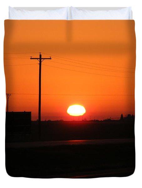 Kansas Sunrise Duvet Cover