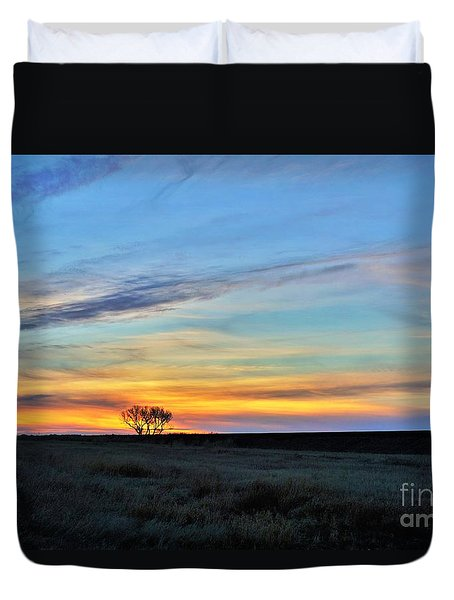 Kansas Sunrise1 Duvet Cover