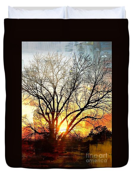 Kansas Sunset Duvet Cover