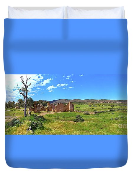 Duvet Cover featuring the photograph Kanyaka Homestead Ruins by Bill Robinson