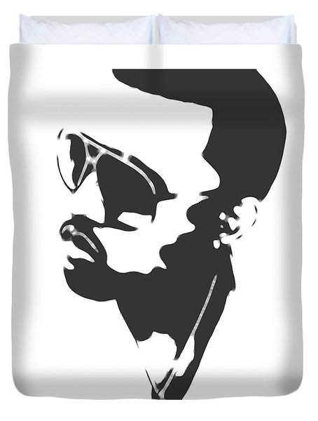 Kanye West Silhouette Duvet Cover by Dan Sproul