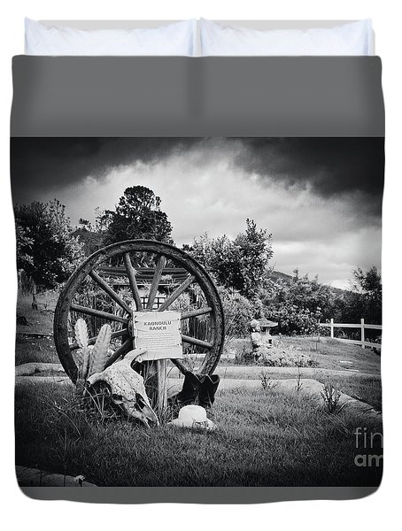 Kaonoulu Ranch  Sign Kula Maui Hawaii Duvet Cover by Sharon Mau
