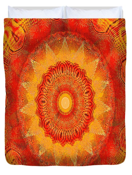 Duvet Cover featuring the digital art Kaoscope by Fine Art By Andrew David