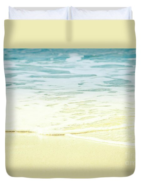 Kapalua Beach Dream Colours Sparkling Golden Sand Seafoam Maui Duvet Cover by Sharon Mau