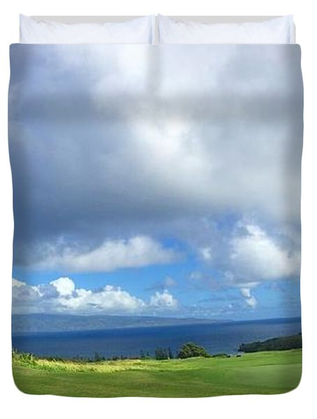 Kapalua Golf In Maui Duvet Cover