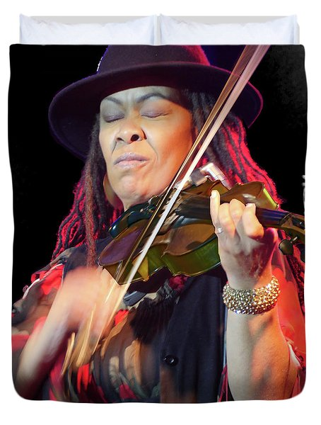 Karen Briggs 2017 Hub City Jazz Festival - In The Moment Duvet Cover