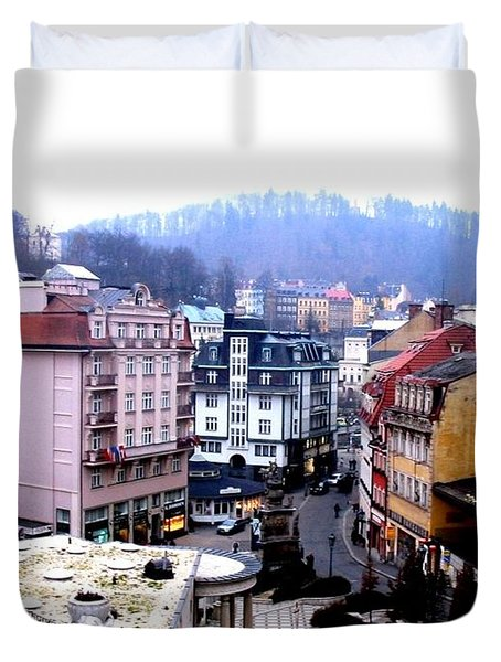 Duvet Cover featuring the photograph Karlovy Vary Cz by Michelle Dallocchio