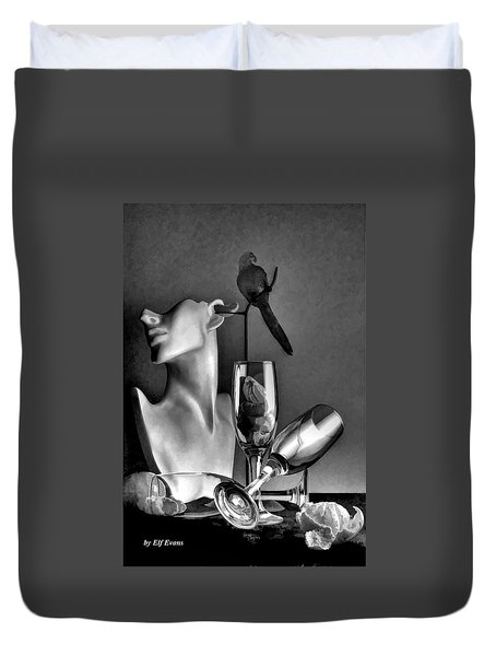 Karo In Black And White Duvet Cover