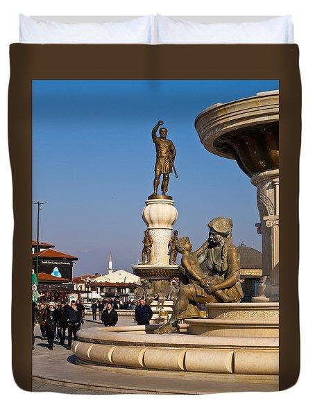 Karpos Rebellion Square Duvet Cover by Rae Tucker
