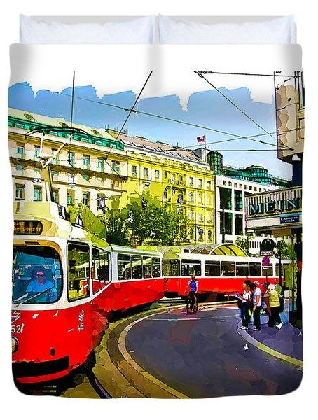 Kartner Strasse - Vienna Duvet Cover