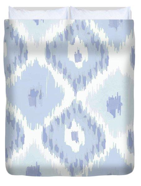 Kasbah Blue Ikat Duvet Cover